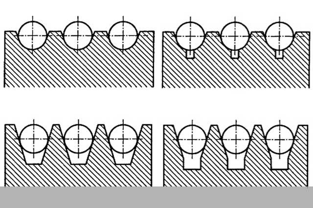 Профиль канавок канатоведущих шкивов